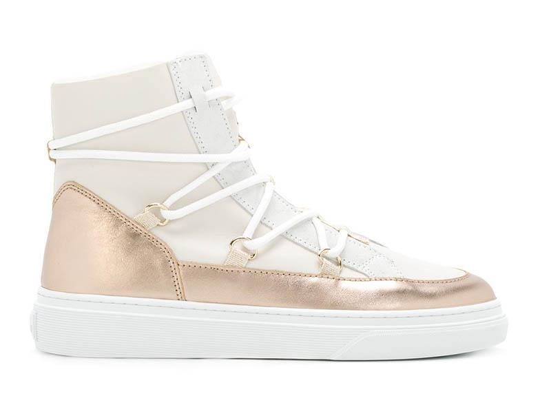 Hogan Metallic Sneaker Boots $495