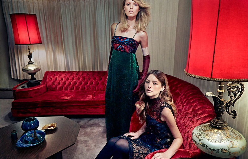 W Magazine Models Lounge In Post Party Fashion Fashion