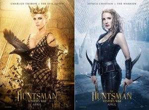 Charlize Theron, Jessica Chastain Prepare for Battle in 'The Huntsman' Posters