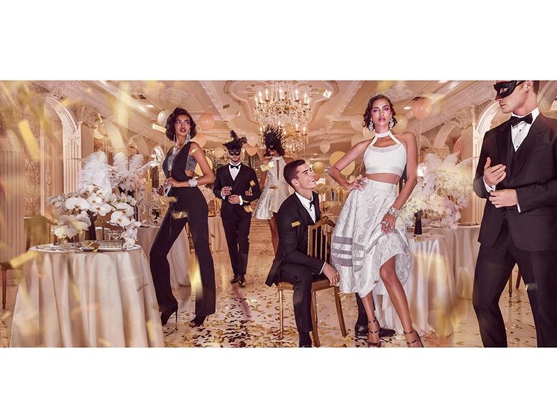 Irina Shayk Looks Like Royalty For Bebe Holiday 2015 Campaign