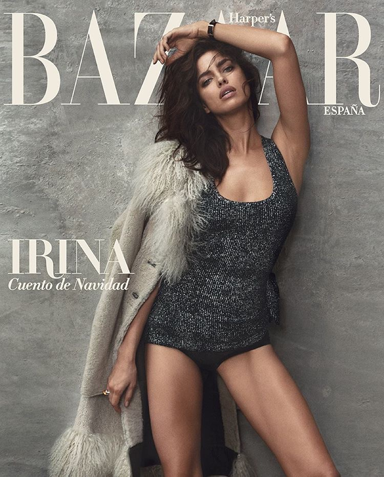 Irina Shayk on Harper's Bazaar Spain December 2015 cover