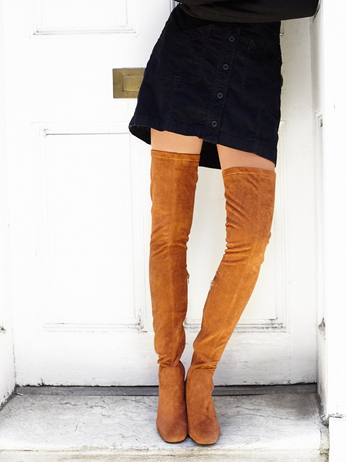 Jeffrey Campbell Thigh High Boots in Vegan Suede