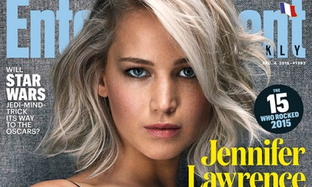 Jennifer Lawrence on Entertainment Weekly December 4, 2015 cover