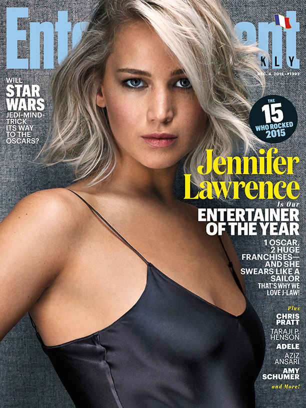 Jennifer Lawrence Smolders On EW's Entertainer Of The Year December 4, 2015