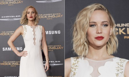 Jennifer Lawrence attends The Hunger Games: Mockingjay - Part 2 Los Angeles premiere