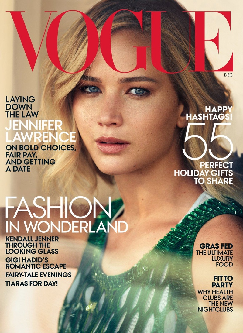 vogue jennifer lawrence december magazine covers makeup photoshoot face married issue she photographer