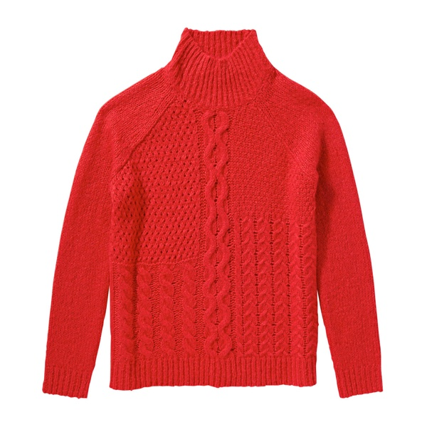 Joe Fresh Red Cable Knit Sweater