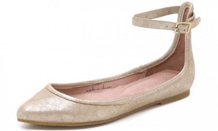 Joie Temple Glitter Suede Flats