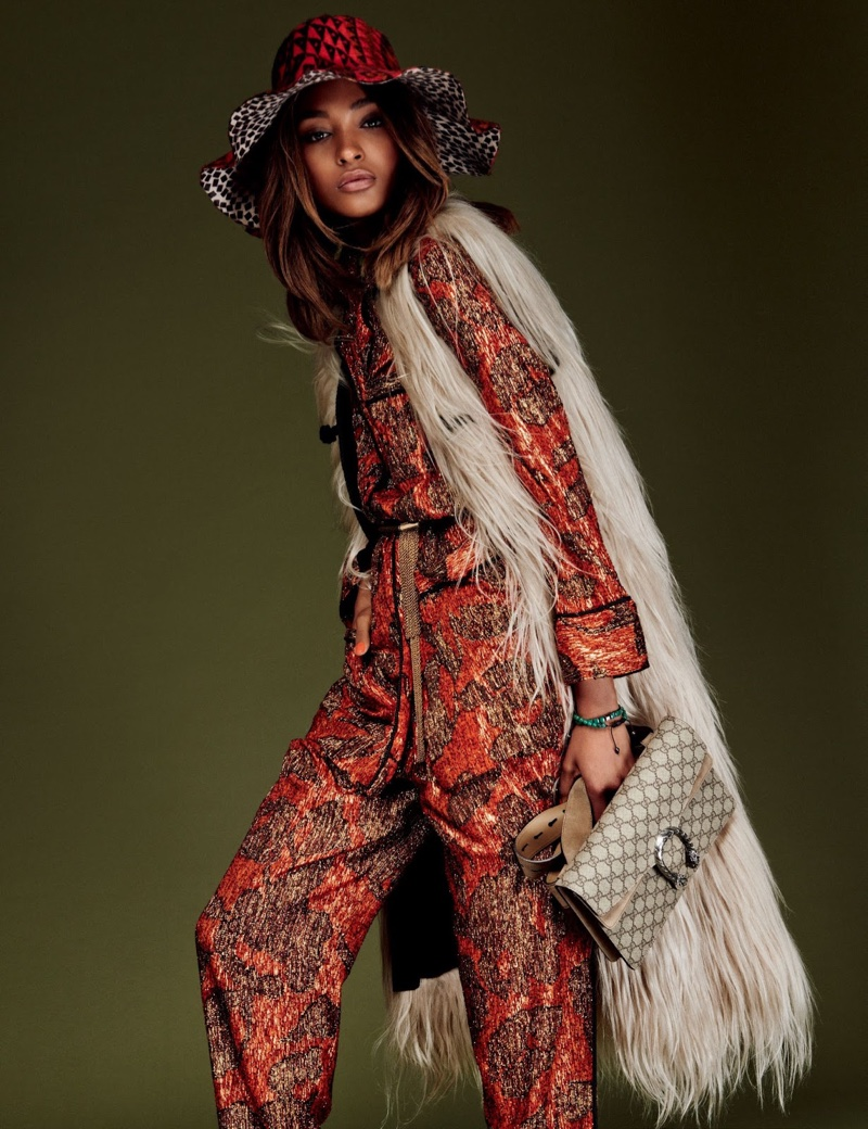 Jourdan Dunn Wears the Bohemian Trend for Vogue Japan Editorial