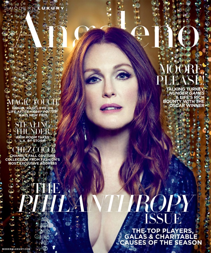 Julianne Moore on Modern Luxury November 2015 cover
