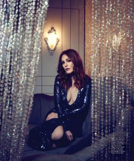 Julianne Moore Dazzles in Modern Luxury, Talks 'Hunger Games' Role
