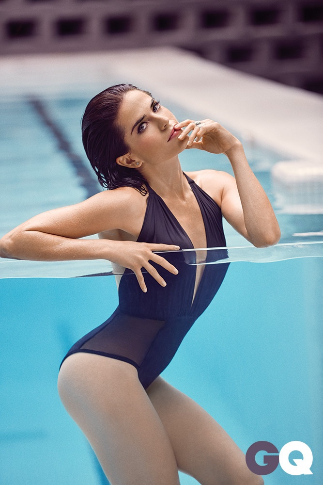 Karla Souza poses in GQ Mexico's October issue