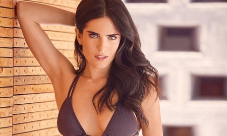 Karla flaunts her bikini body for the magazine