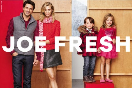 Karlie Kloss Bundles Up for the Holidays in Joe Fresh Ads