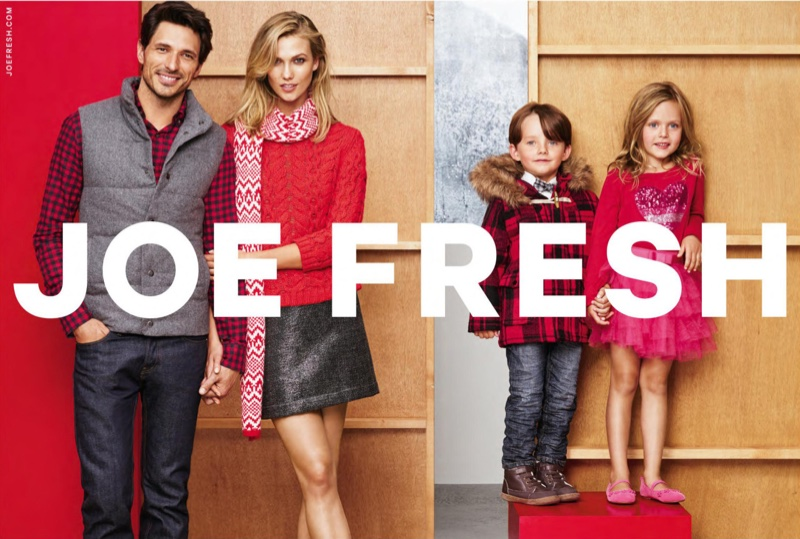 Karlie Kloss Bundles Up for the Holidays in Joe Fresh Ads