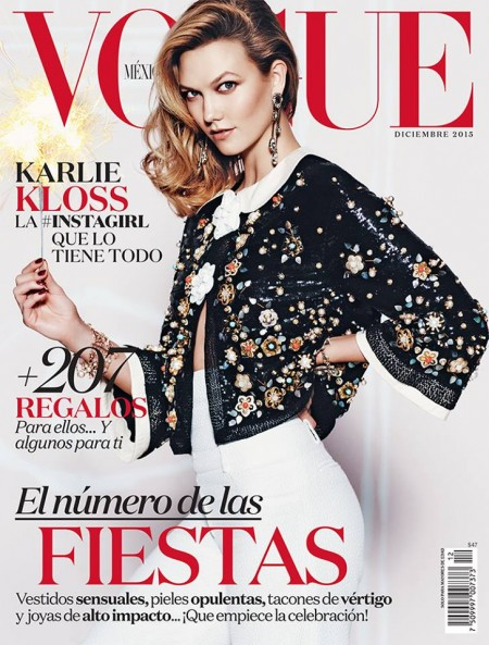 Karlie Kloss on Vogue Mexico December 2015 cover