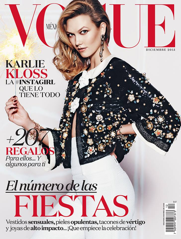 Karlie Kloss Shines in Chanel for Vogue Mexico Cover