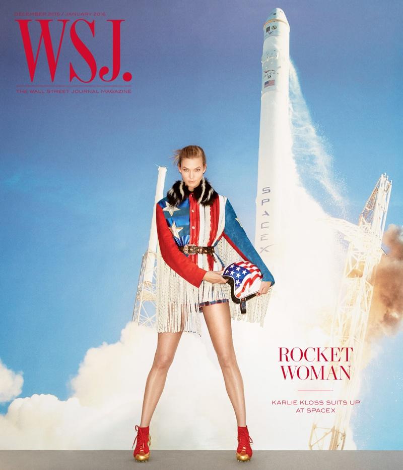 Karlie Kloss on WSJ. Magazine December-January 2015.2016 cover