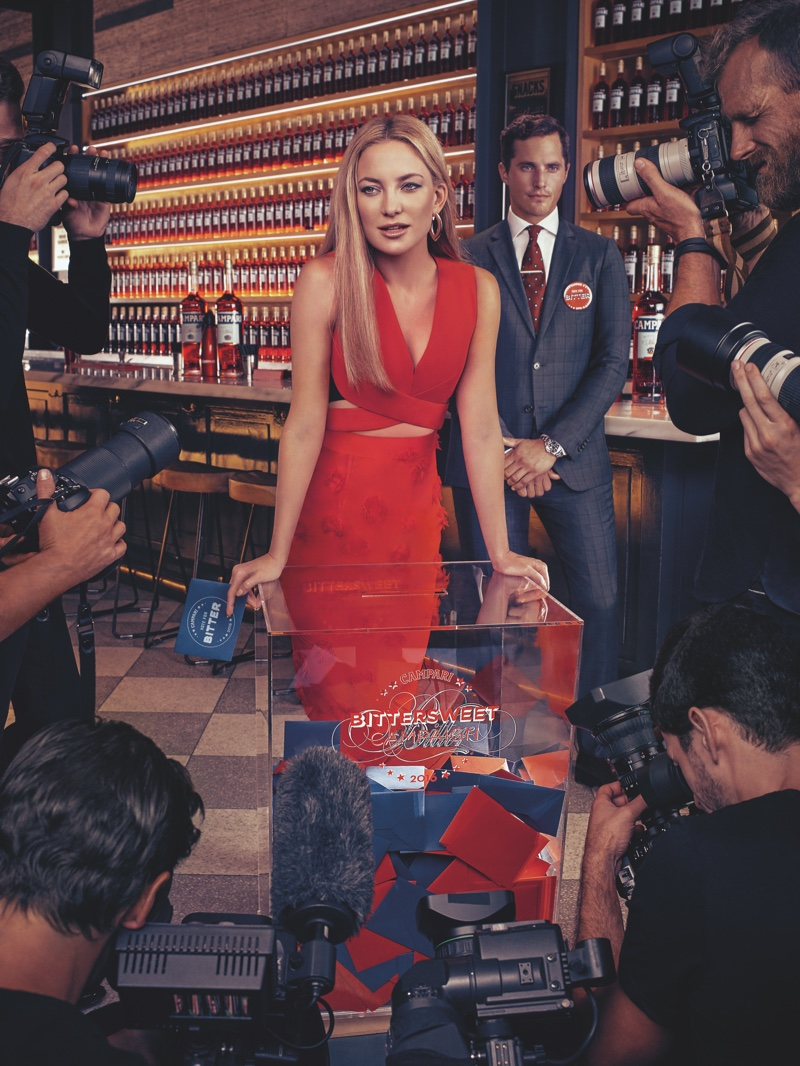 Kate Hudson Wears Red-Hot Looks in Campari's 2016 Calendar