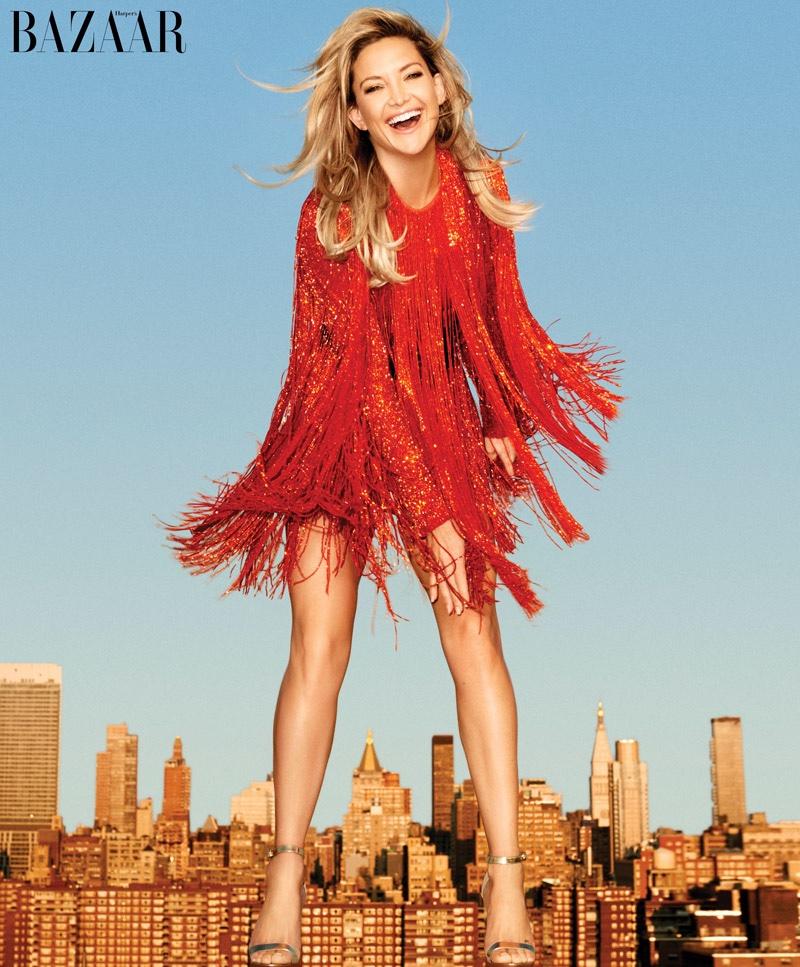 Kate Hudson Covers BAZAAR, Talks Being Single