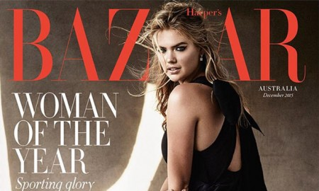 Kate Upton on Harper's Bazaar Australia December 2015 cover