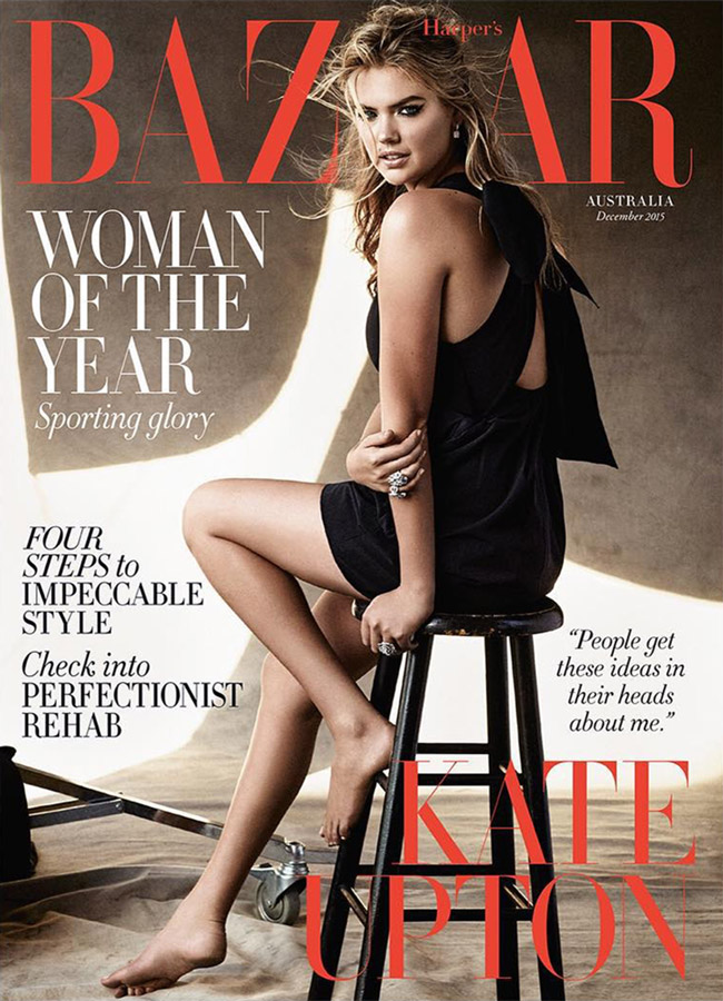 Kate Upton Harper 39 S Bazaar Australia December 2015 Cover