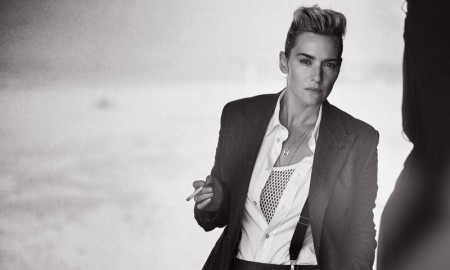 Kate Winslet wears menswear inspired looks photographed by Peter Lindbergh