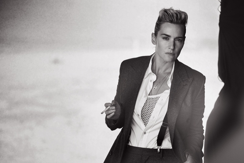 Kate Winslet Suits Up for Peter Lindbergh Shoot in L'Uomo Vogue