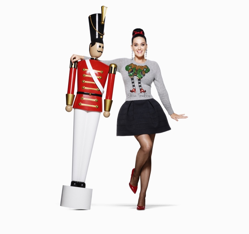 Katy Perry Brings Some Christmas Cheer to H&M