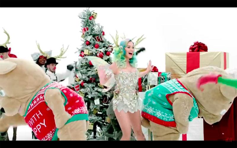 Katy Perry stars in H&M's Christmas 2015 video