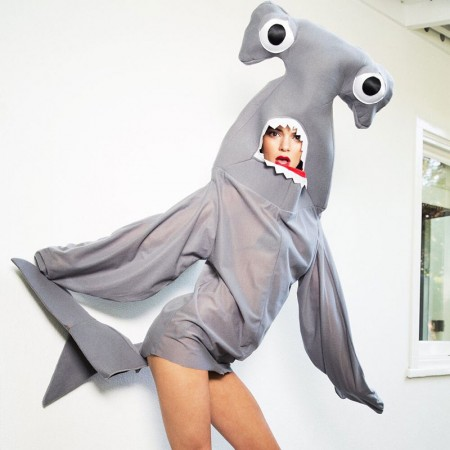 Kendall Jenner poses in shark costume for LOVE. Photo: Twitter/LOVE