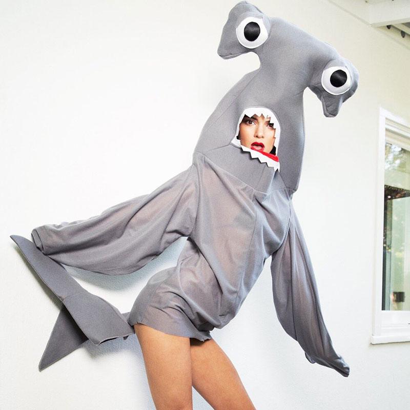Kendall Jenner Teases Sexy Shark Costume for LOVE Calendar