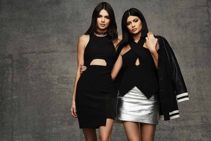 Kendall Jenner poses with sister Kylie in Topshop holiday 2015 collaboration