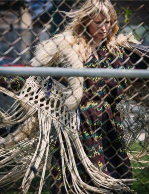 Kirsten Owen Models Boho Chic Looks for Vogue Ukraine by Riccardo Vimercati