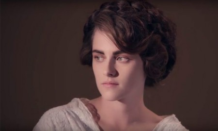 Screen cap of Kristen Stewart in Chanel film trailer