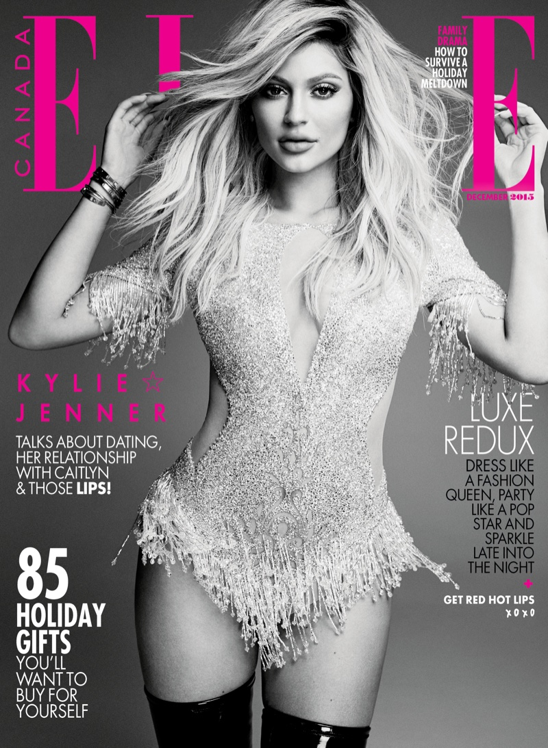 Kylie Jenner on ELLE Canada December 2015 cover