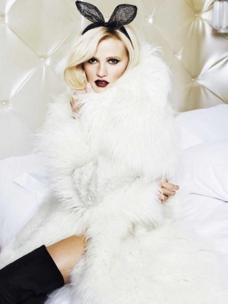 Lara Stone Serves Up Major Beauty Inspiration in Glamour Spain Shoot