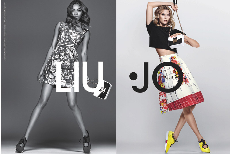 Jourdan Dunn and Karlie Kloss star in Liu Jo's spring-summer 2016 campaign