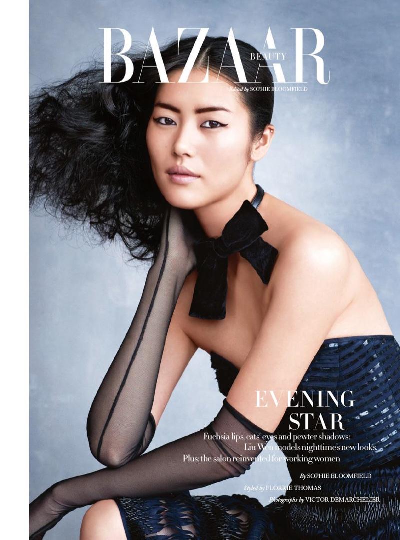 Liu Wen Stuns In Evening Ready Makeup Looks For BAZAAR UK December 2015