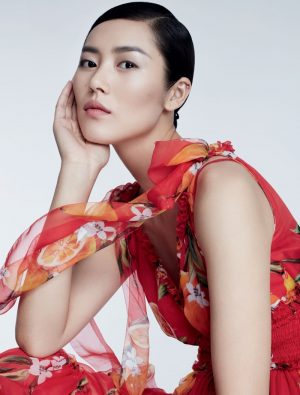 Liu Wen is an Elegant Vision in Marie Claire China's December Issue