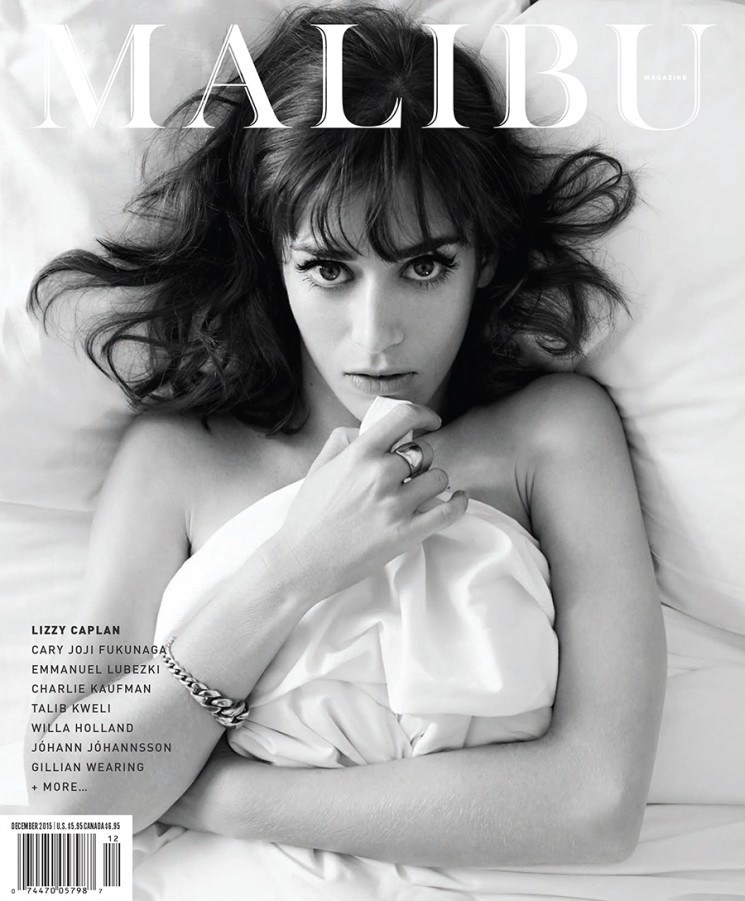Lizzy Caplan on Malibu Magazine November/December 2015 cover