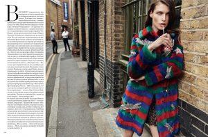 Louise Pedersen Models Gucci for BAZAAR Russia by Lado Alexi