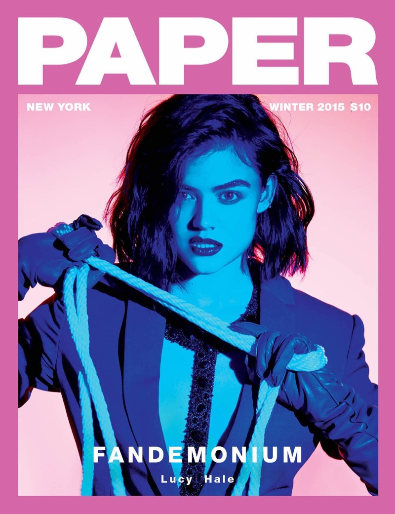 Lucy Hale Goes Dark In Bondage Inspired Looks For PAPER Magazine Winter 2015
