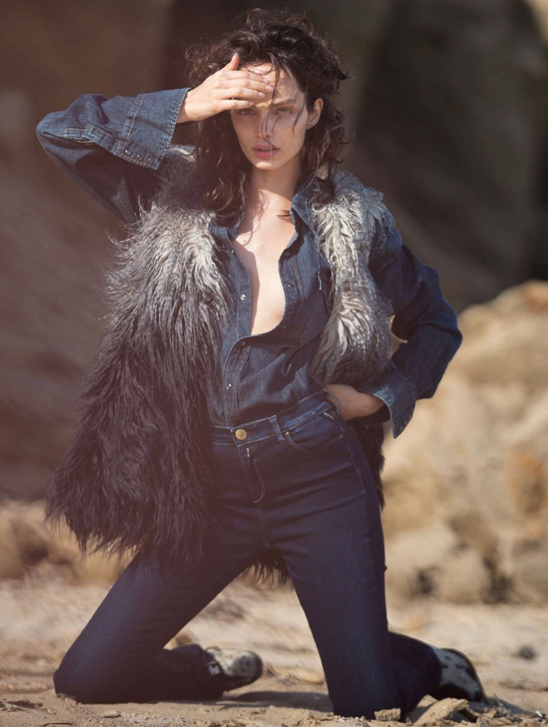 Luma Grothe Takes on the Western Trend for Marie Claire Italia
