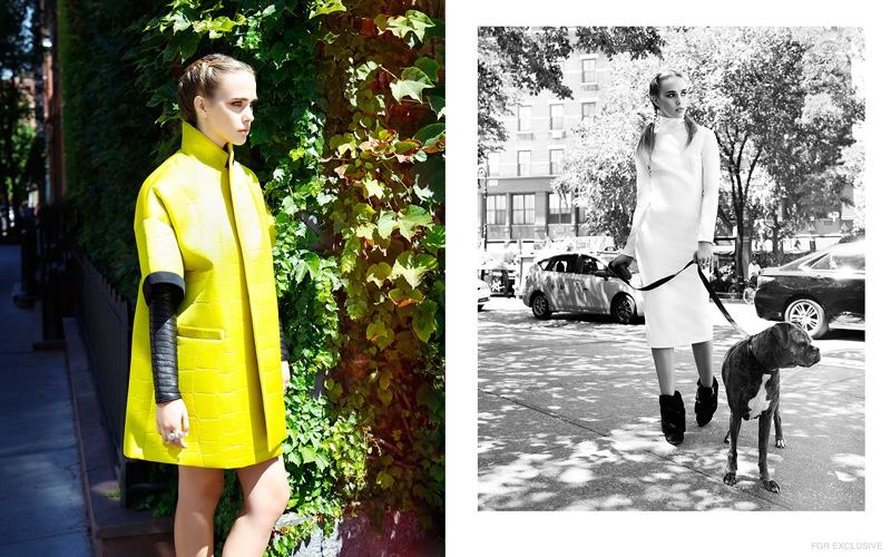 (L) Dress Brandon Sun, Jacket Milly (R) Dress Waldrip New York, Shoes Paul Andrew