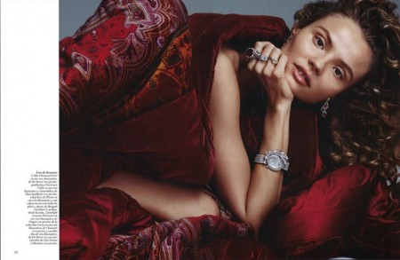 Magdalena Frackowiak Gets Draped in Fabric & Gems for Vogue Spain