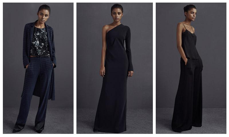 Mango Premium Winter 2015 Showcases Elegant Black & Navy Styles