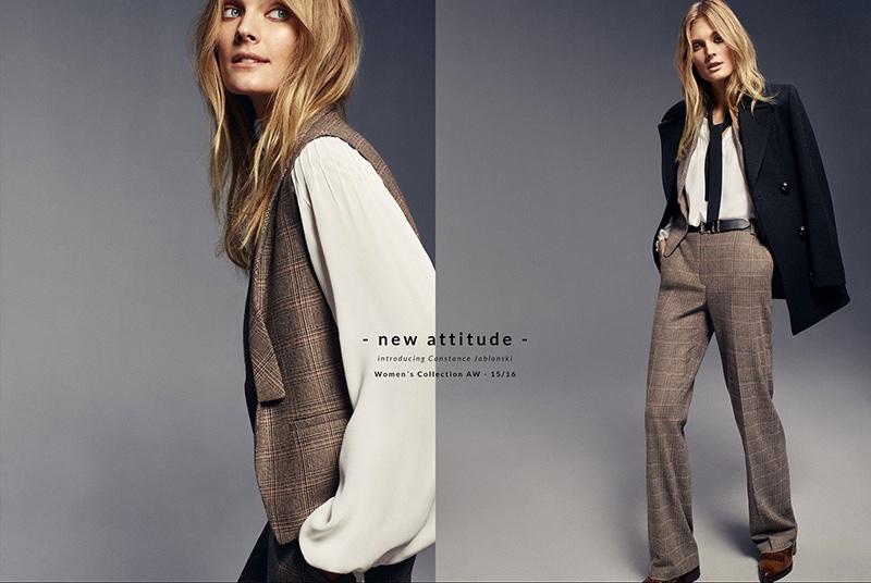 Constance Jablonski Models Massimo Dutti's Fall Fall-winter 2015