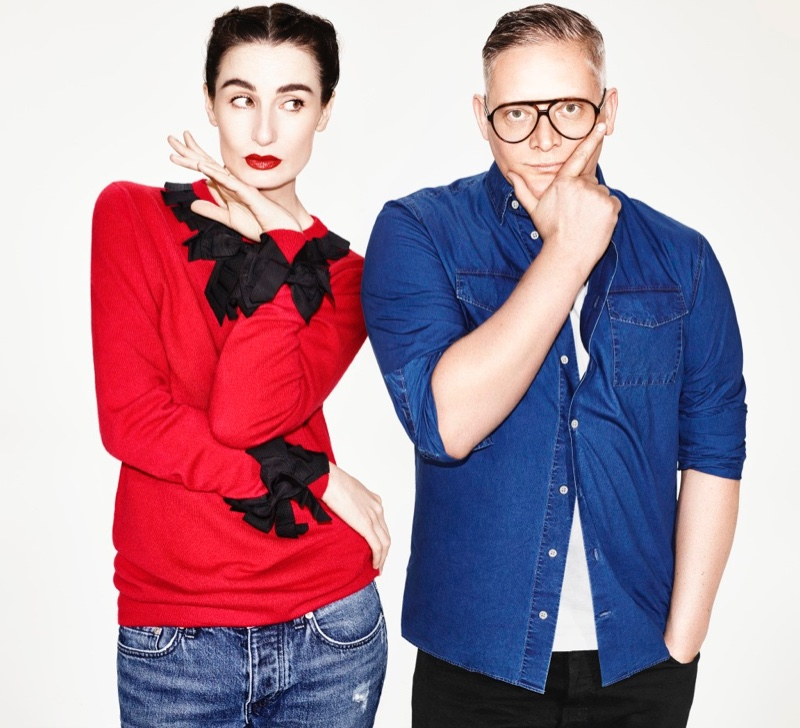 Giles Deacon x Erin O'Connor Save the Children sweater