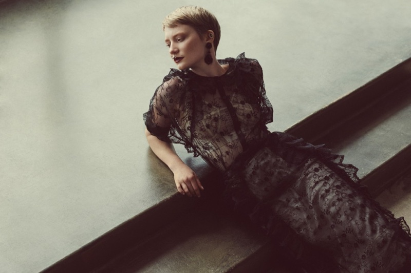Mia Wasikowska Works the Pixie Cut for FLAUNT Shoot
